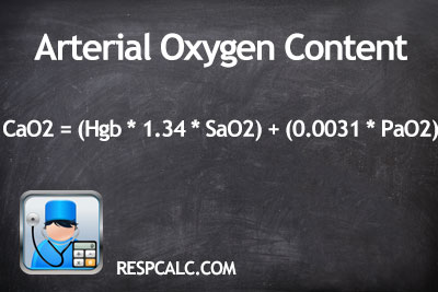 Arterial Oxygen Content Calculation