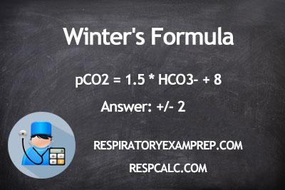 winter 39 s formula respcalc respiratory calculator. Black Bedroom Furniture Sets. Home Design Ideas